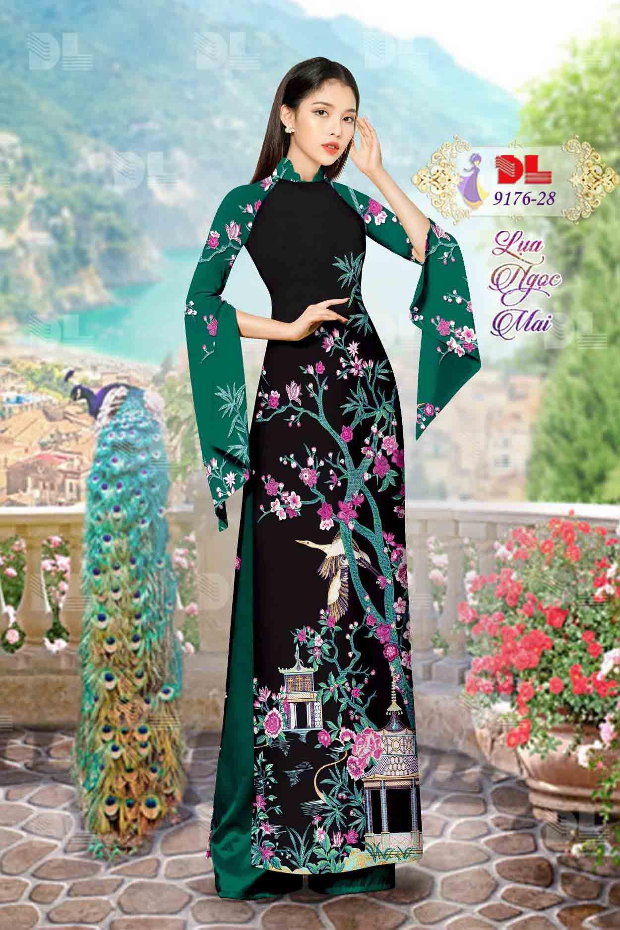 Vải Áo Dài Phong Cảnh AD 9176 69