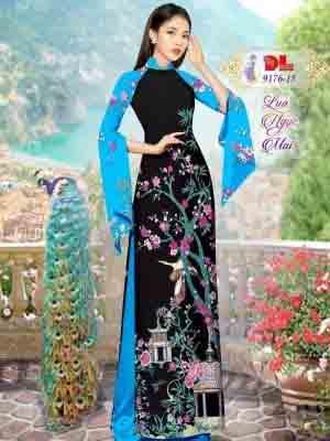 Vải Áo Dài Phong Cảnh AD 9176 38