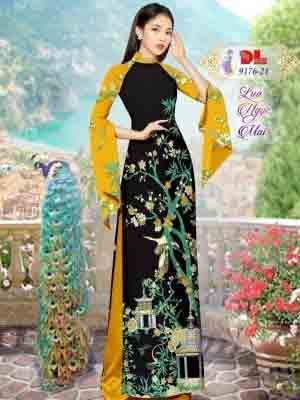 Vải Áo Dài Phong Cảnh AD 9176 40