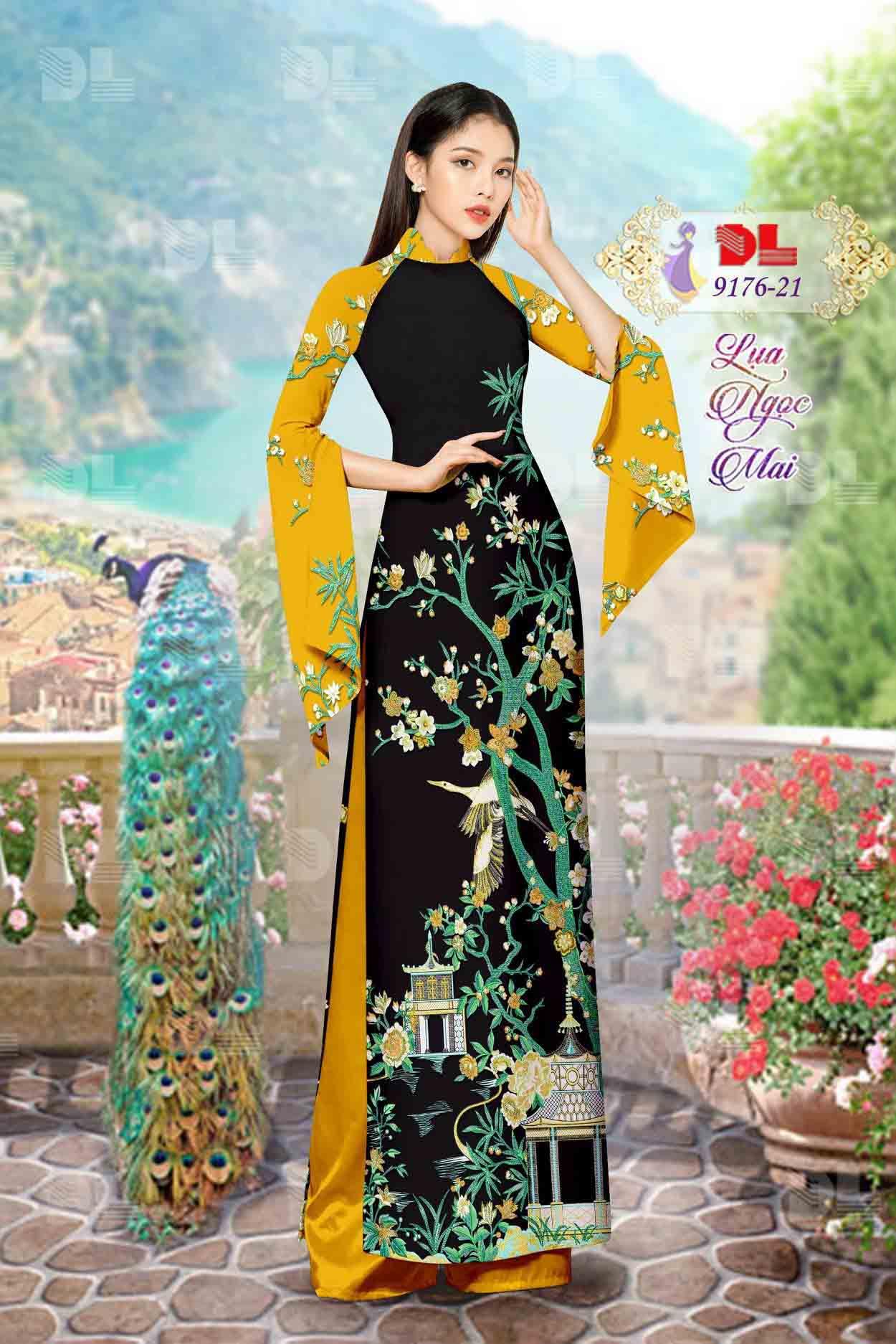 Vải Áo Dài Phong Cảnh AD 9176 65
