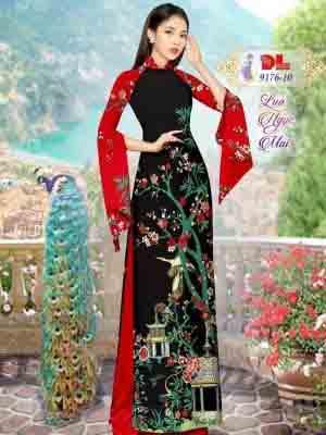 Vải Áo Dài Phong Cảnh AD 9176 32