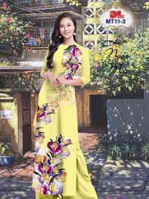 Vải Áo Dài Hoa In 3D AD MT11 23