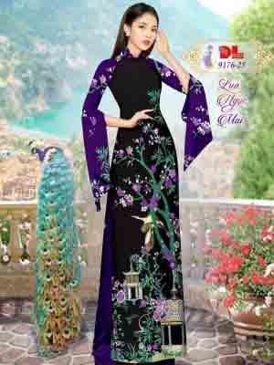 Vải Áo Dài Phong Cảnh AD 9176 43