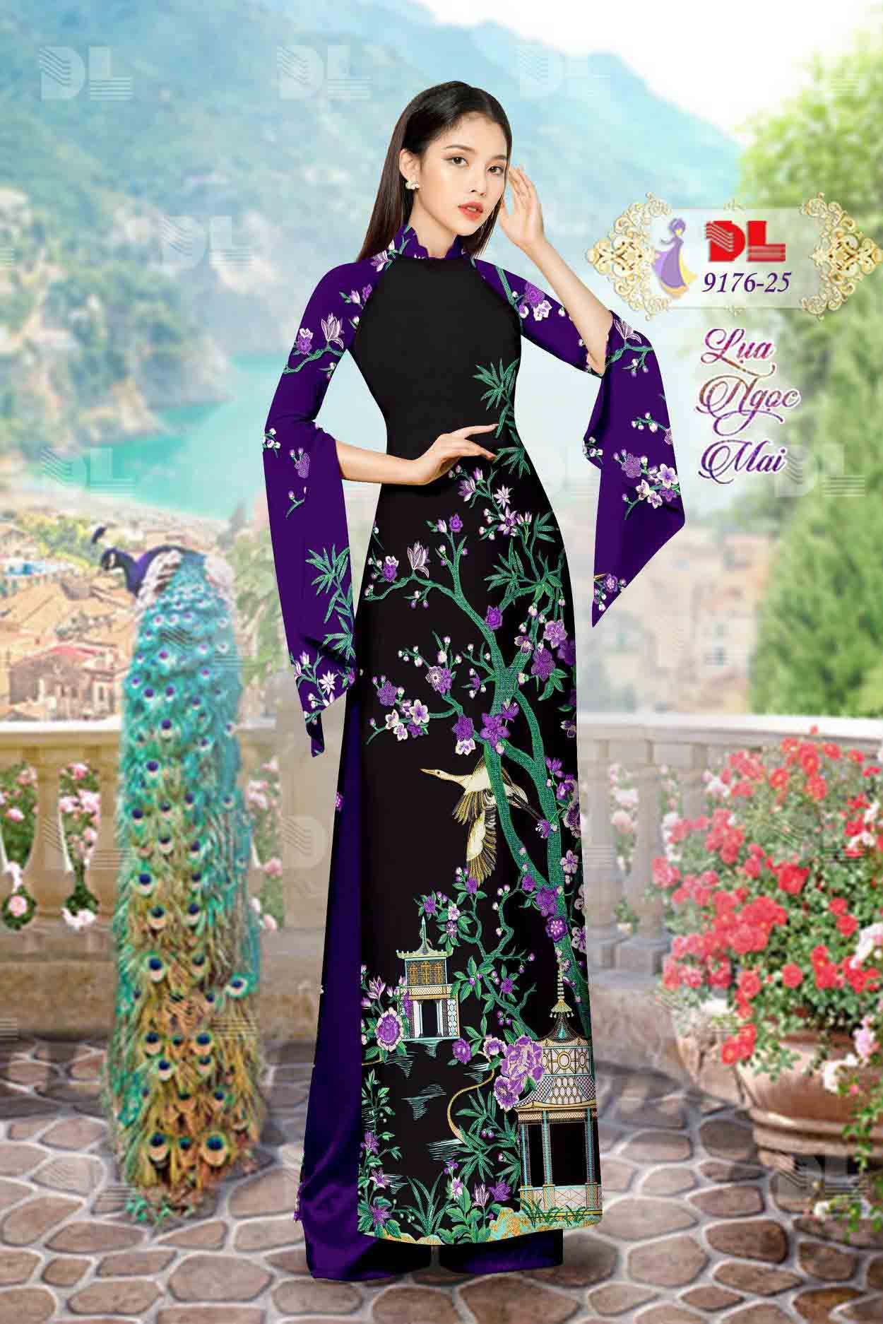 Vải Áo Dài Phong Cảnh AD 9176 68