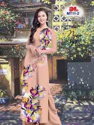 Vải Áo Dài Hoa In 3D AD MT11 22