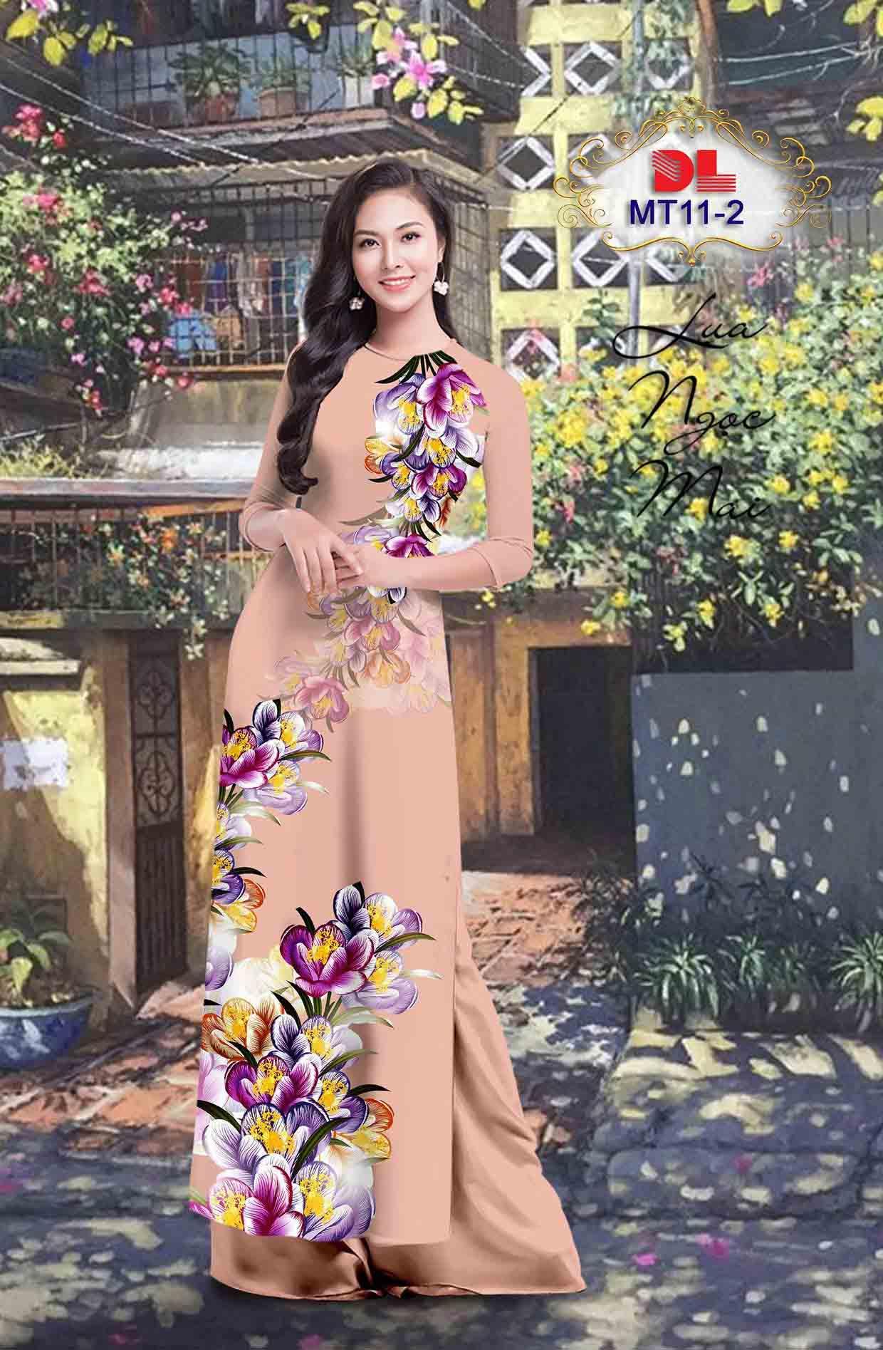 Vải Áo Dài Hoa In 3D AD MT11 41