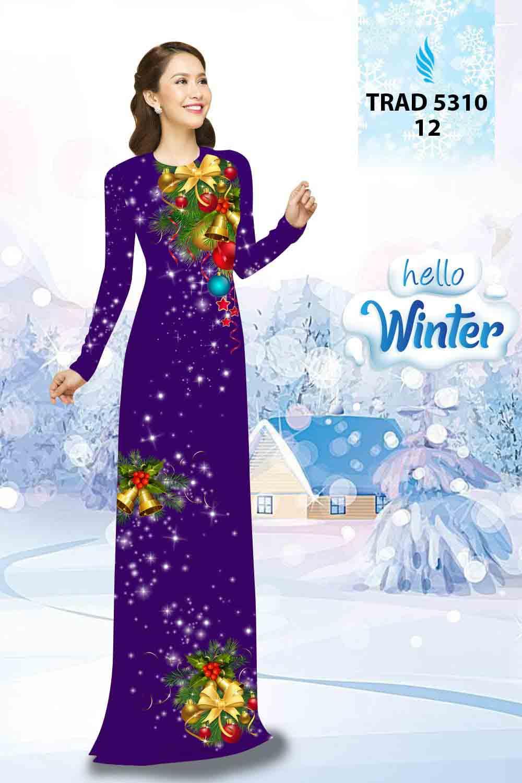Vải Áo Dài Giáng Sinh AD TRAD 5310 21