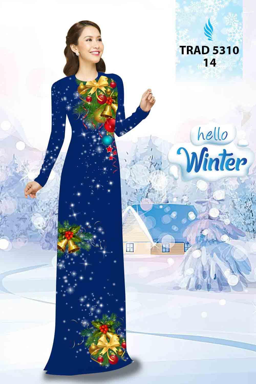 Vải Áo Dài Giáng Sinh AD TRAD 5310 25