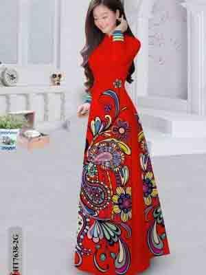 Vải Áo Dài Hoa Văn AD HT7638 17