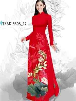 Vải Áo Dài Hoa Sen AD TRAD 5308 35