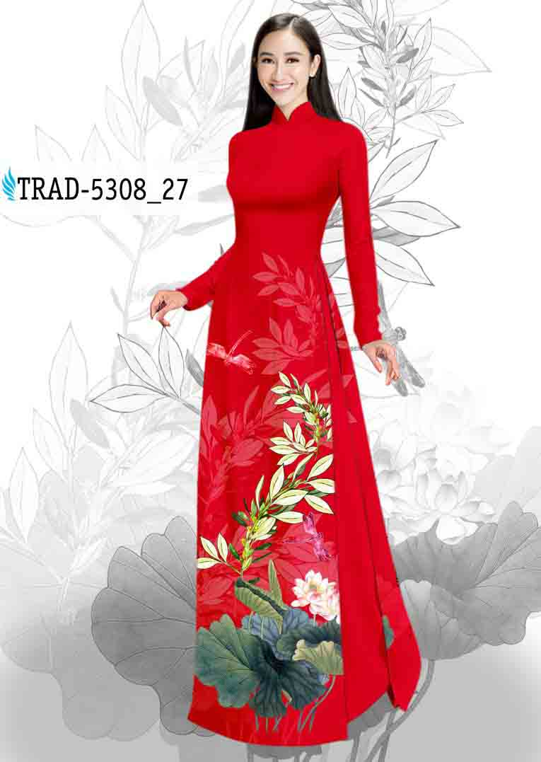 Vải Áo Dài Hoa Sen AD TRAD 5308 54