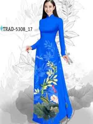 Vải Áo Dài Hoa Sen AD TRAD 5308 27