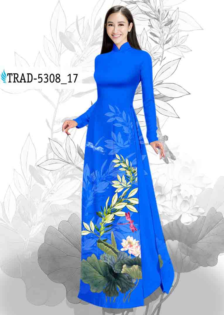 Vải Áo Dài Hoa Sen AD TRAD 5308 46