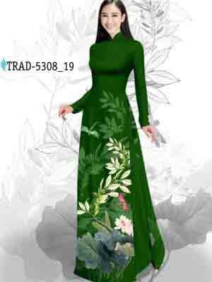 Vải Áo Dài Hoa Sen AD TRAD 5308 24