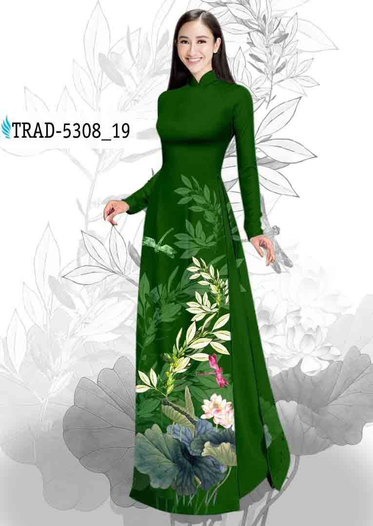 Vải Áo Dài Hoa Sen AD TRAD 5308 43
