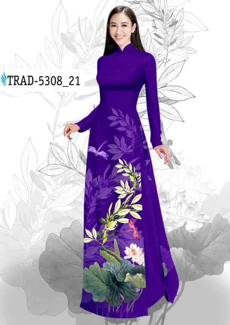 Vải Áo Dài Hoa Sen AD TRAD 5308 47