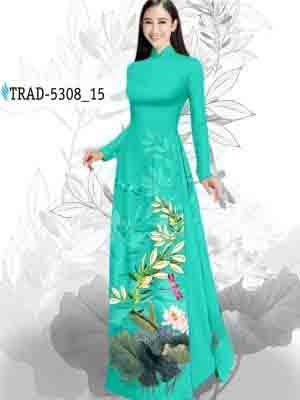 Vải Áo Dài Hoa Sen AD TRAD 5308 19