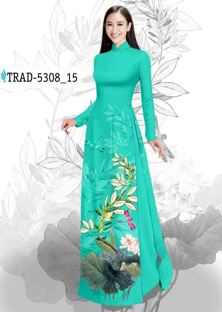 Vải Áo Dài Hoa Sen AD TRAD 5308 38