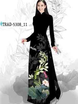 Vải Áo Dài Hoa Sen AD TRAD 5308 21