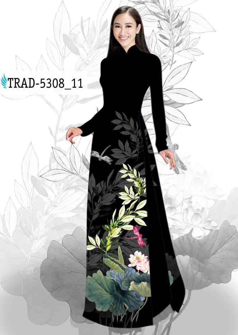 Vải Áo Dài Hoa Sen AD TRAD 5308 40