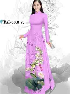 Vải Áo Dài Hoa Sen AD TRAD 5308 33
