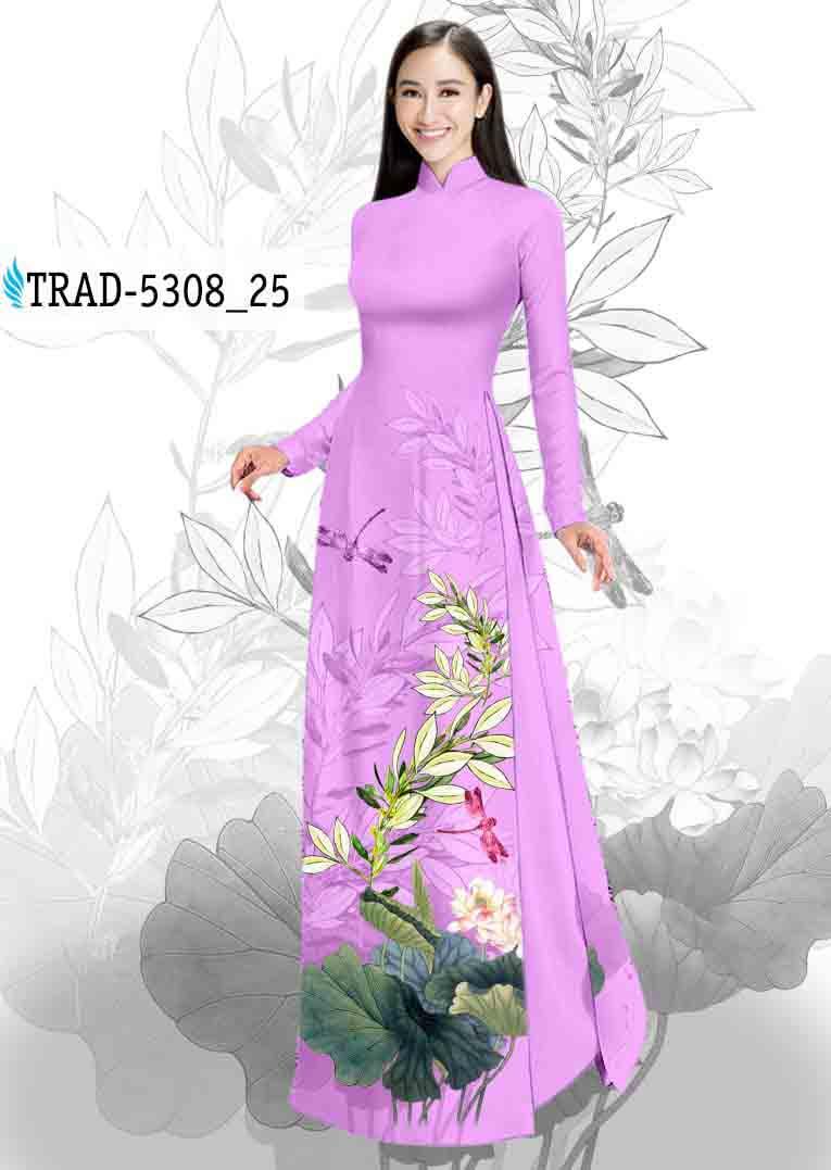 Vải Áo Dài Hoa Sen AD TRAD 5308 52