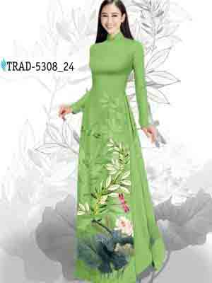 Vải Áo Dài Hoa Sen AD TRAD 5308 32