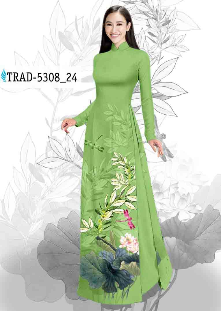 Vải Áo Dài Hoa Sen AD TRAD 5308 51