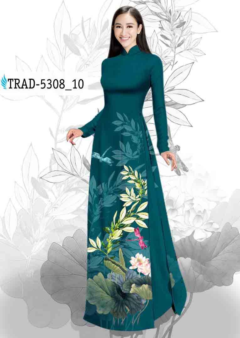 Vải Áo Dài Hoa Sen AD TRAD 5308 37