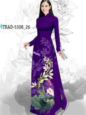 Vải Áo Dài Hoa Sen AD TRAD 5308 34