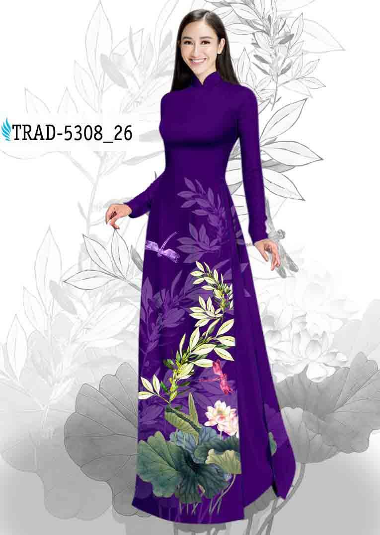 Vải Áo Dài Hoa Sen AD TRAD 5308 53