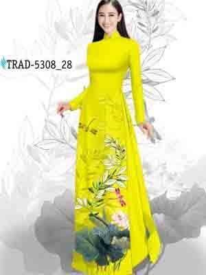 Vải Áo Dài Hoa Sen AD TRAD 5308 36