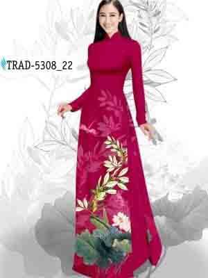 Vải Áo Dài Hoa Sen AD TRAD 5308 30