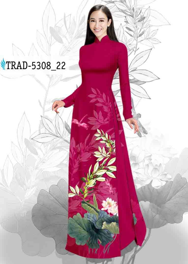Vải Áo Dài Hoa Sen AD TRAD 5308 49