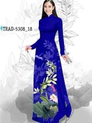 Vải Áo Dài Hoa Sen AD TRAD 5308 29