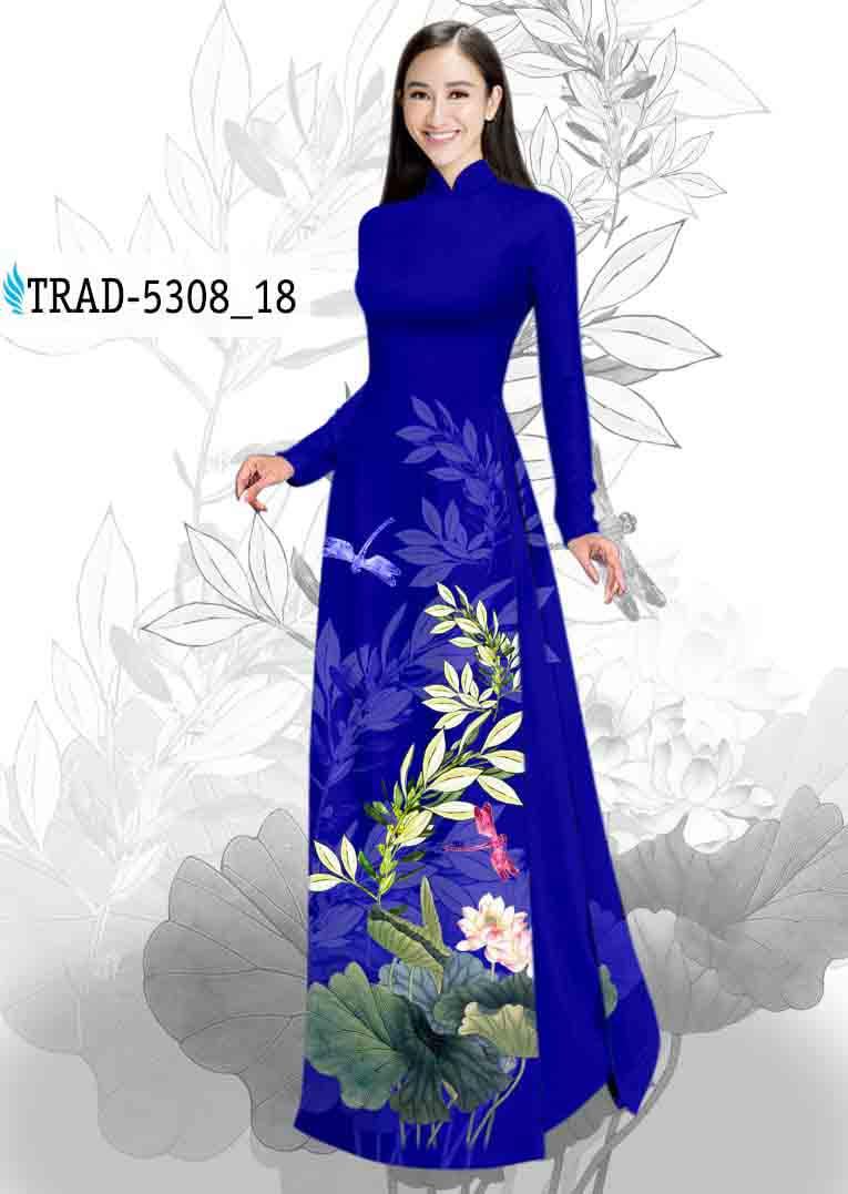 Vải Áo Dài Hoa Sen AD TRAD 5308 48