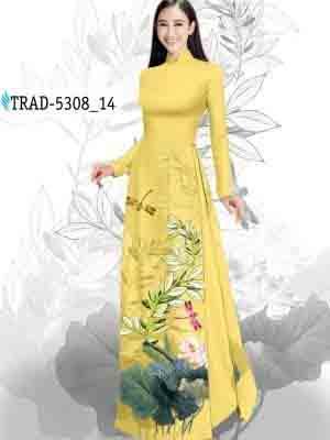 Vải Áo Dài Hoa Sen AD TRAD 5308 26