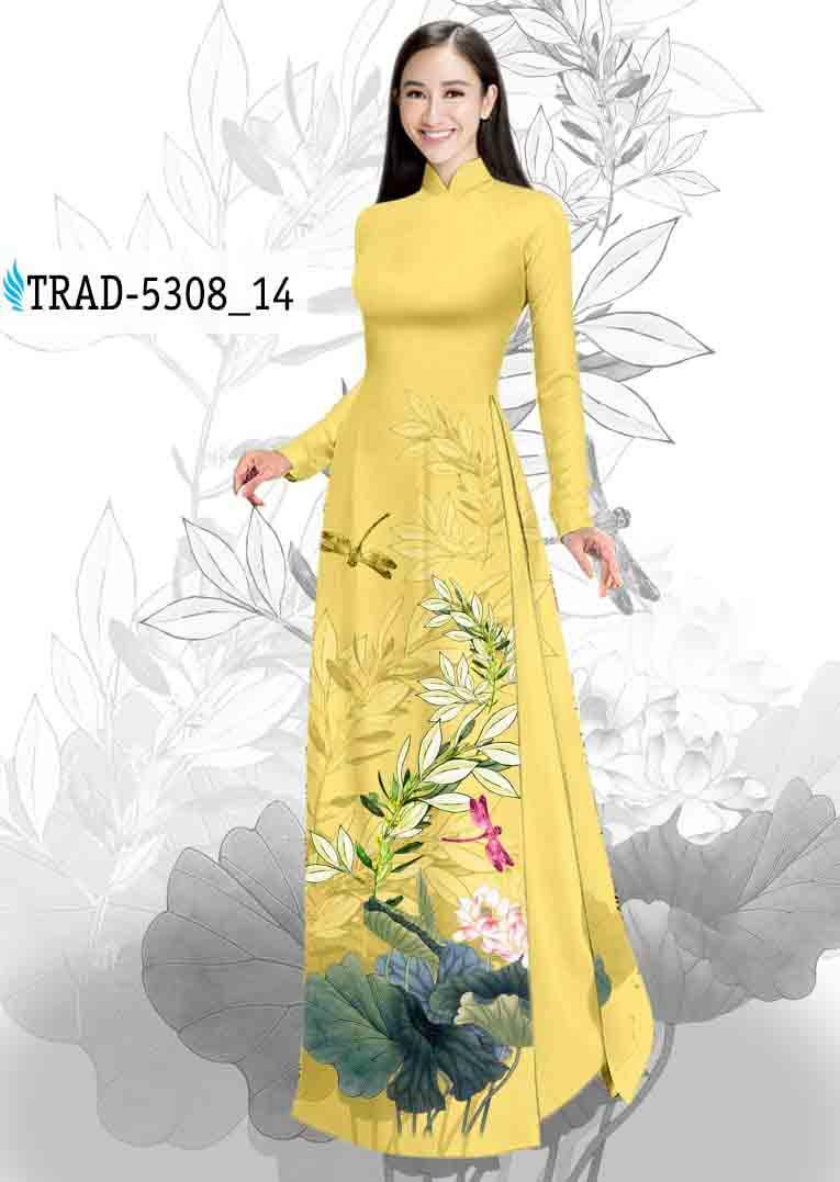 Vải Áo Dài Hoa Sen AD TRAD 5308 45