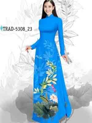 Vải Áo Dài Hoa Sen AD TRAD 5308 31
