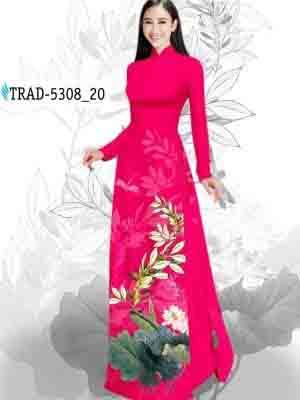 Vải Áo Dài Hoa Sen AD TRAD 5308 25