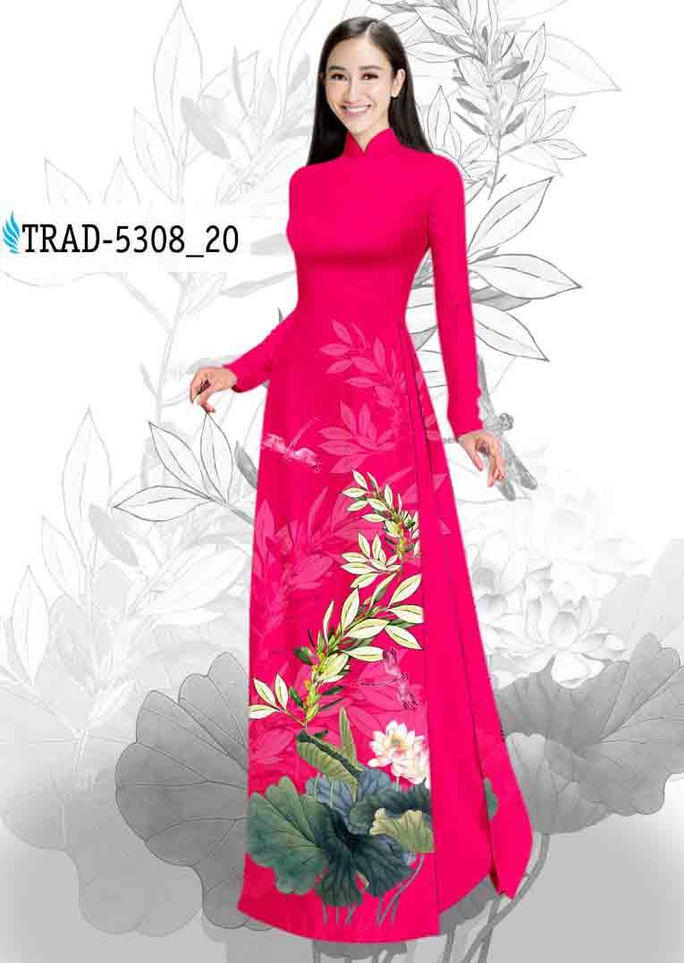 Vải Áo Dài Hoa Sen AD TRAD 5308 44