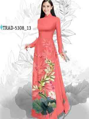 Vải Áo Dài Hoa Sen AD TRAD 5308 23