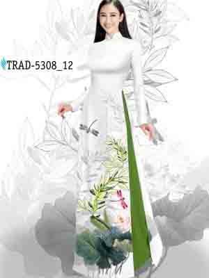 Vải Áo Dài Hoa Sen AD TRAD 5308 22