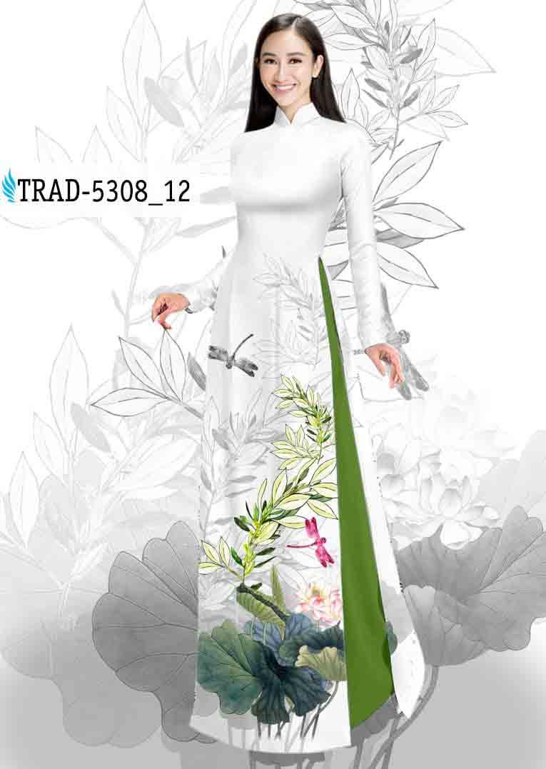 Vải Áo Dài Hoa Sen AD TRAD 5308 41