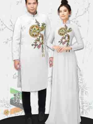 Vải Áo Dài Hoa Sen AD IW148 19