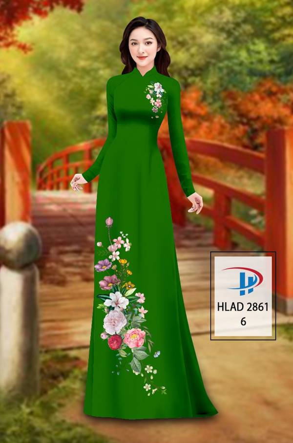 Vải Áo Dài Hoa In 3D AD HLAD 2861 49