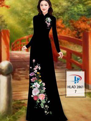 Vải Áo Dài Hoa In 3D AD HLAD 2861 25