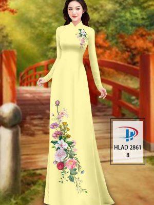 Vải Áo Dài Hoa In 3D AD HLAD 2861 26