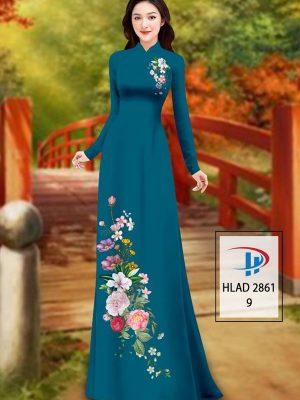 Vải Áo Dài Hoa In 3D AD HLAD 2861 27