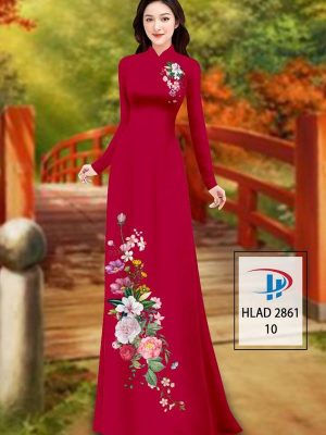 Vải Áo Dài Hoa In 3D AD HLAD 2861 28